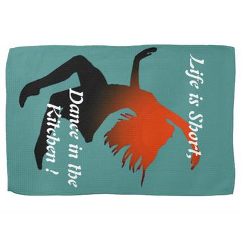 Short Life and Dance in Kitchen ballerina design Hand Towel
