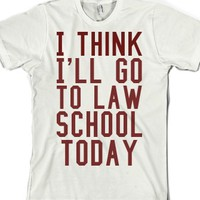 Law School-Unisex White T-Shirt
