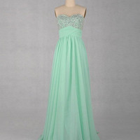 Sweetheart Floor-length A-line Chiffon Prom Dresses from 2013 New Dresses
