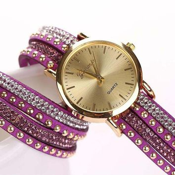 Braided Winding Wrap Wrist Watch
