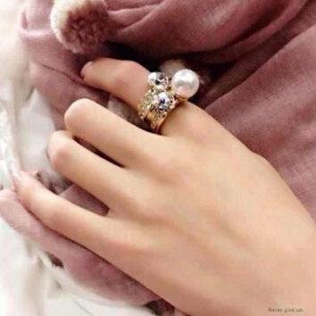 New Arrival Gift Jewelry Stylish Shiny Pearls Ring [6586079751]
