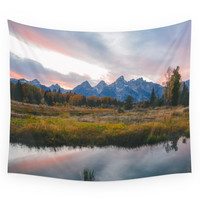 Society6 Grand Teton Sunset Wall Tapestry