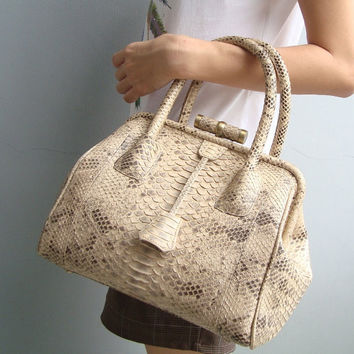 Snakeskin Leather Bag / Leather Purse  Pick your color by mrhanz