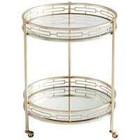 Gilded Meridian Bar Cart in Antique Silver