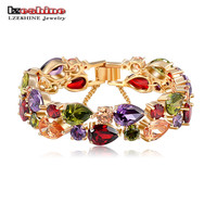 Colourful AAA Zircon Bracelet 18 K Gold /Rose Gold