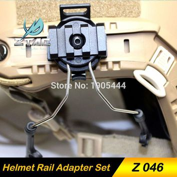 Z-TAC Tactical Peltor Airsoft Gun Helmet Accessories Arsoft ZTac IPSC headphone For comtac ii Headset Softair Earphone Adapter