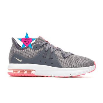 Bedazzled Gray Nike Air Max Sequent 3 | 10.5-3