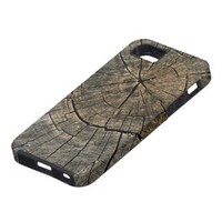 Natures Patterns (Wooden Stump) Digital Art Iphone 5 Cases from Zazzle.com
