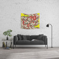 Floral Dance Part III Wall Tapestry by anipani
