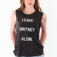 Hips and Hair Leave Britney Alone Muscle Tee