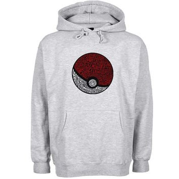 District Pokemon Hoodie Sweatshirt Sweater Shirt Gray and beauty variant color for Unisex size