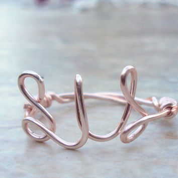 Sister Ring Rose Gold Wire Word Sis Ring Modern Minimalist Sisters Jewelry Your Choice Silver Yellow Gold Handmade on Etsy