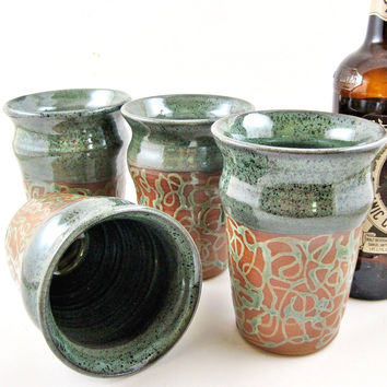 Pottery Beer pint, a great gift for home brewer -  In stock