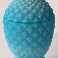 Pineapple Covered Dish - Blue - Vallerystahl