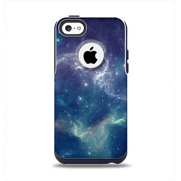 The Subtle Blue and Green Nebula Apple iPhone 5c Otterbox Commuter Case Skin Set