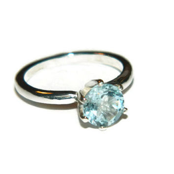 Sky Blue Topaz Ring, Engagement Ring, Promise Ring, Anniversary Ring, December Birthstone