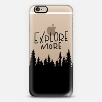 EXPLORE MORE - BLACK iPhone 6 case by Whimsy and Wild | Casetify