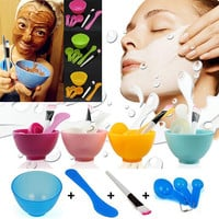 6 in1 New Women Ladies Makeup Beauty DIY Facial Face Mask Bowl Brush Spoon Stick Tools Set Tools