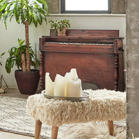 Large Shaggy Stool - Urban Outfitters