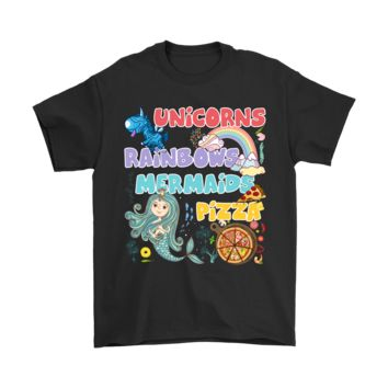 PEAP3CR Wonderful Things In Life Unicorns Rainbows Mermaids Pizza Shirts