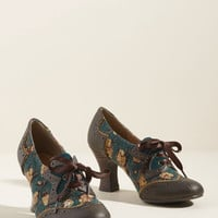 Ruby Shoo Vintage Voyage Oxford Heel in Floral