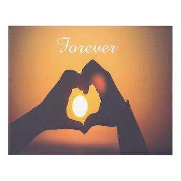 Two Hands Make A Heart With Forever Panel Wall Art