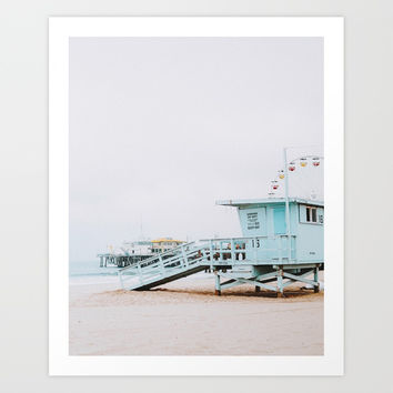 santa monica, california Art Print by mauikauai