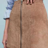 Leather Moto Mini Skirt