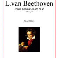 Ludwig van Beethoven: Moonlight Sonata Sheet Music Op.27 No.2 for piano