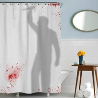 Knife Wielding Psycho Shower Curtain | Psycho Movie Art