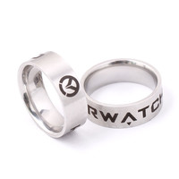 Game Overwatch Ring for women World of Warcraft Rings Men Stainless Steel Holder US Size 8# 9# 10# 11#