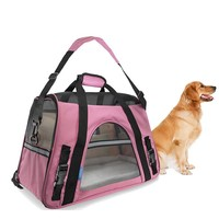 Portable Dog Travel Bag Pet Carrier Oxford and Breathable Mesh Pet Cat Dog Travel Carrier Shoulder Bag Pet Supplies Outdoor