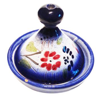 Moroccan Dip Serving Bowl Tagine for Home Entertaining Foodies (Mediterranean Blue)