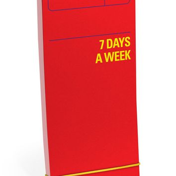 7 Days A Week Red Agenda Planner - Weekly To Do List