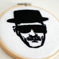 Breaking Bad Heisenberg Embroidery Hoop.