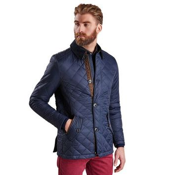Fortnum Quilted Jacket in Navy by Barbour - FINAL SALE