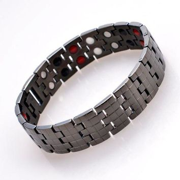 ca DCCKTM4 Awesome Hot Sale Stylish Gift Great Deal New Arrival Shiny Stainless Steel Accessory Men Titanium Ring Bracelet [11337091591]