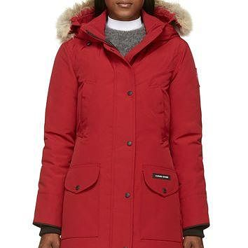 Canada Goose Red Down And Fur Trillium Parka