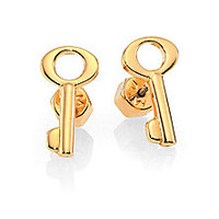 Marc by Marc Jacobs - Lost & Found Key Stud Earrings/Goldtone - Saks Fifth Avenue Mobile