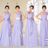 Mix Long  Bridesmaid Dress,Cheap Bridesmaid Dress,Long Chffon Bridesmaid Dress,Cheap Prom Dress