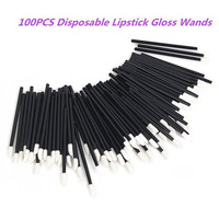 100PCS Disposable Lip Brushes Lipstick Gloss Wands Applicator