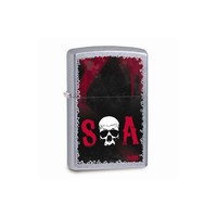 Zippo Sons Of Anarchy Skull Street Chrome Lighter