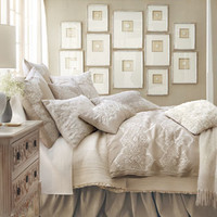 "King Lace-Motif Duvet Cover, 110"" x 98"""