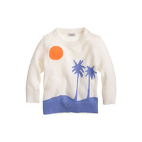 BABY CASHMERE SWEATER IN PALM TREE