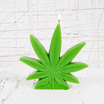 Weed Leaf Candle - Urban Outfitters
