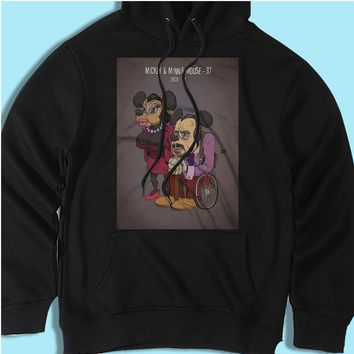 Mickey And Minnie Mouse Elderly Old Men'S Hoodie