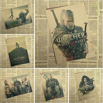The Witcher Classic Game Kraft Paper Poster Bar Cafe Living Room Dining room Decorative Paintings