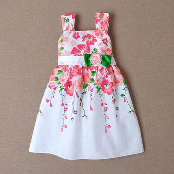 Girls Floral Spring/Summer Dress