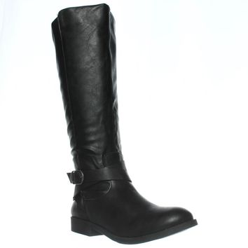 SC35 Madixe Knee-High Riding Boots, Black, 7 US
