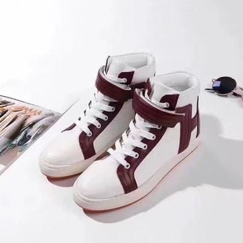 Red Hermes Women Trending Fashion printing Casual Sneakers Sports Shoes